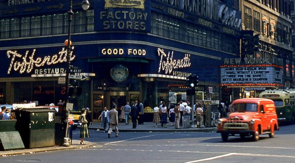 Toffenetti - a long-gone classic theater district restaurant