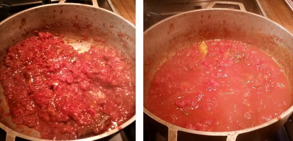 Short Ribs and Diced Tomatoes Sauce