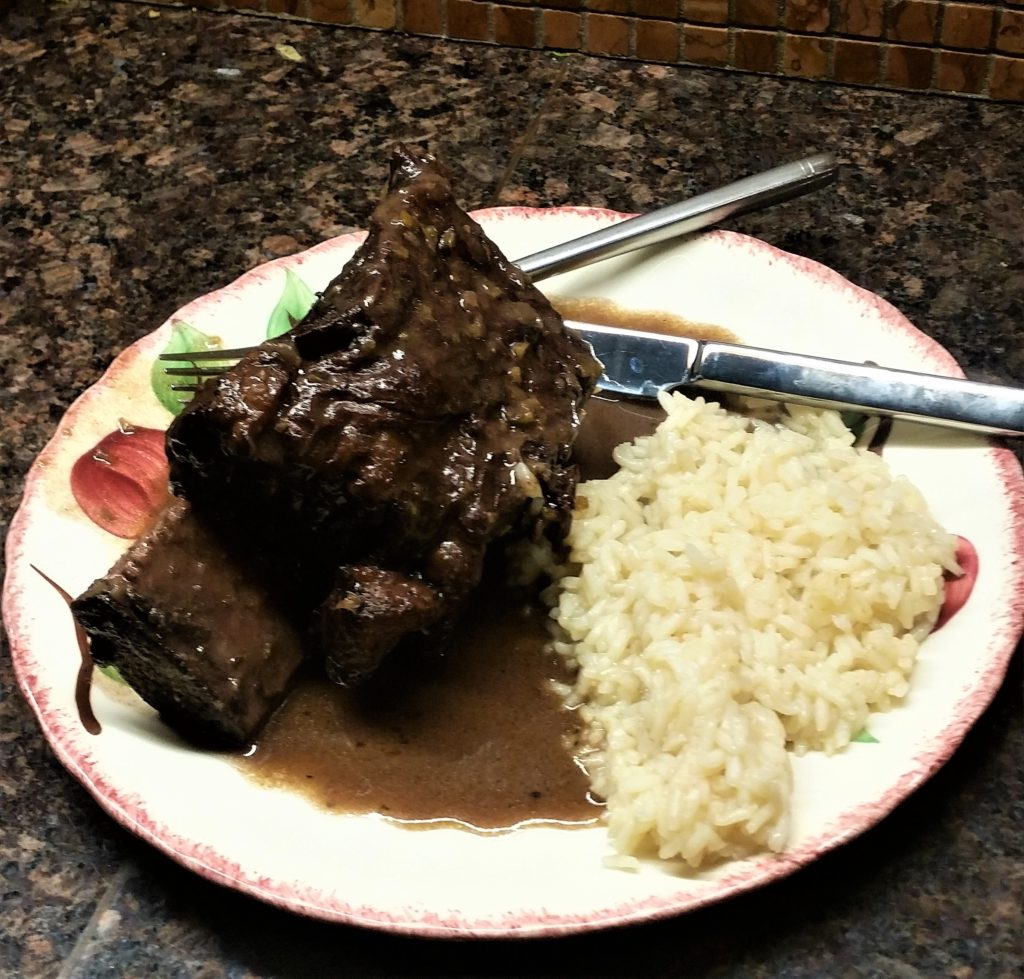 Beef Rib Braised in Red WIne