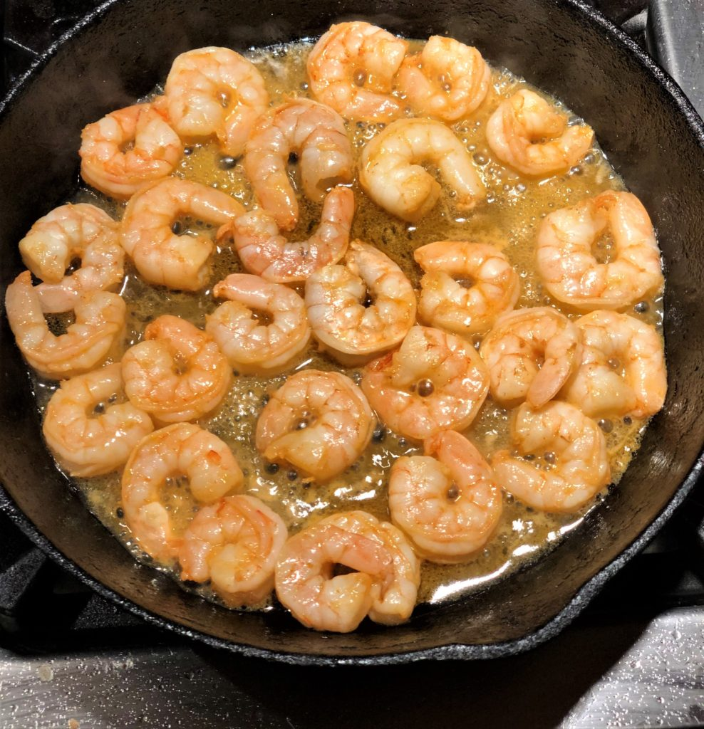 Shrimp with Orange Sauce and Salad